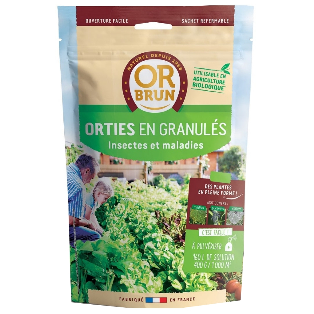 Orties en granulés Or Brun 400g
