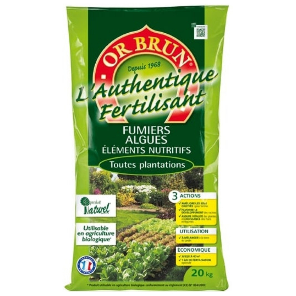 L'Authentique Fertilisant Or Brun 20Kg