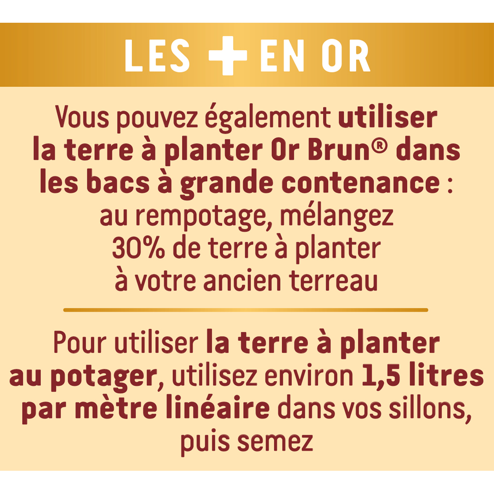Terre à planter Or Brun 20L